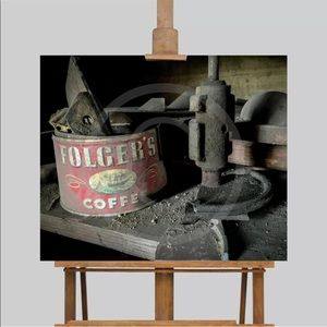 Wall Art Canvas Vintage Foldgers Coffee Can